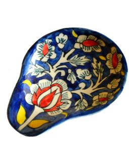 Midnight Blue Floral Spoon Rest