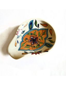 White Mughal Design Spoon Rest