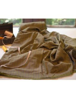 Handwoven Brown Stripes Fabric