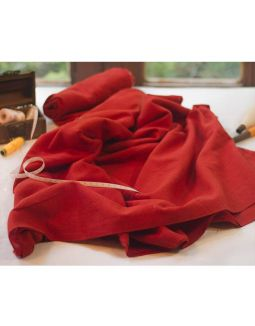 Red Handwoven Cotton Fabric