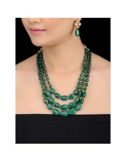 Green Stone Necklace Set
