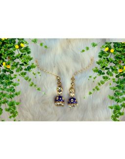 Blue Kaan Chain Earrings