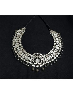 Kundan Stone Silver Necklace