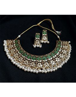 Multicolor Kundan Silver Necklace Set