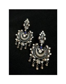 Silver Kundan Earrings