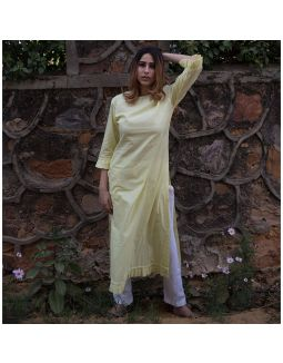 Lime Yellow Kurta with Pants and Dupatta