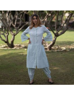 Sea Green Dhoti Pants with Tunic