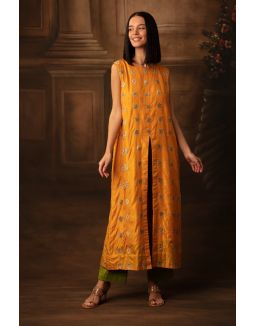 Yellow Summer Tunic With Trousers