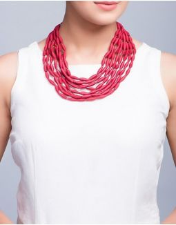 Red Multilayer Necklace