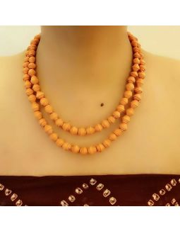 Orange Two Layer Necklace Set