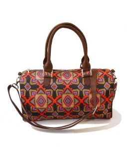 Graphic Print Duffle Bag