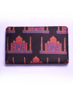 Black Taj Print Wallet