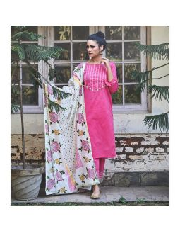 Pink Kurta and Pants Set
