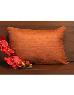 Pure Silk Dull Orange Cushion Cover