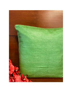 Light Green Pure Silk Cushion Cover