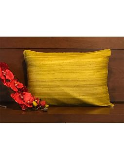 Lemon Yellow Silk Cushion Cover