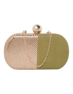 Green with Gold Clutch