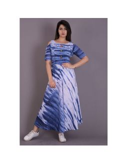 Blue Tie Die Dress