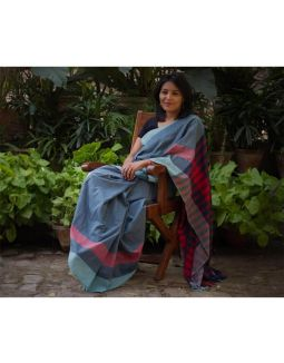 Light Blue Handloom Saree