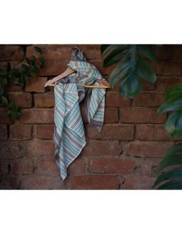 Blue Pure Cotton Scarf
