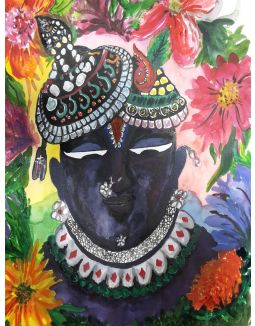 Srinathji Watercolour Painting