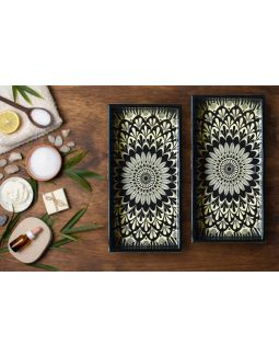 Ivory Wooden Tray Set Of 2 with Gift Box