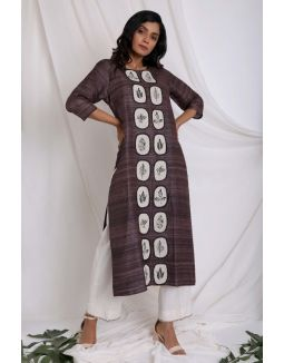 Brown Applique Kurta