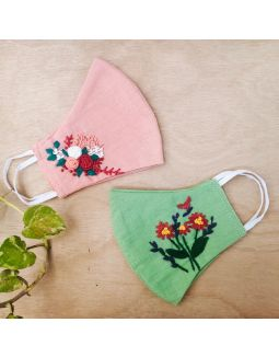 Embroidery Masks (Set of 2)