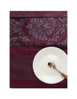 Purple Damask Table Runner