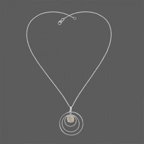 White Stone Loop Necklace