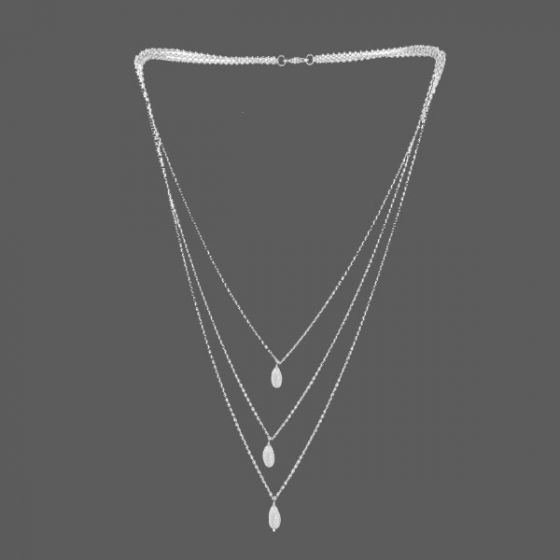 3 layered Sterling Silver Necklace