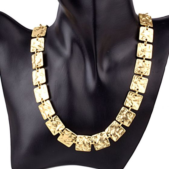 Square Gold Plated Necklace