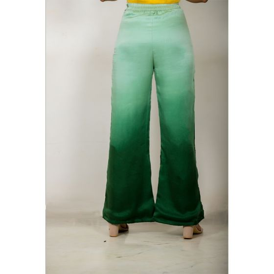 Ombre Green Wide Legged Pant