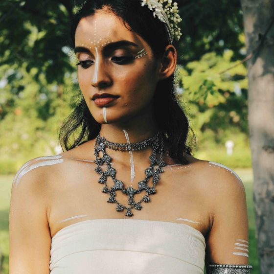 White Peacock Necklace