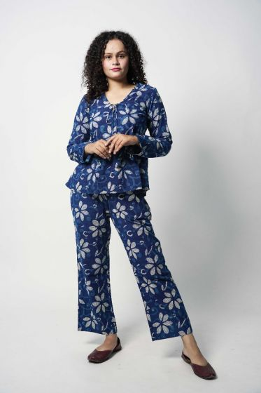 Indigo Floral Co-Ord Set