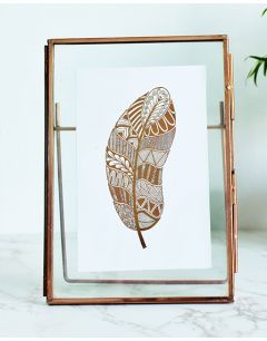 Bronze Feather Floating Frame