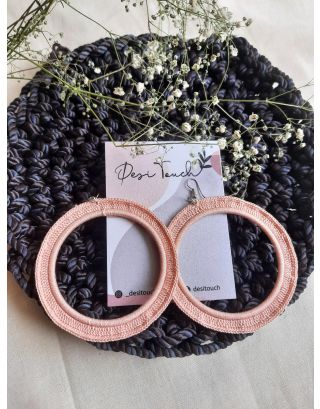 Baby-Pink Classic Western Hoops