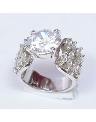 Sterling Zircon Silver Ring