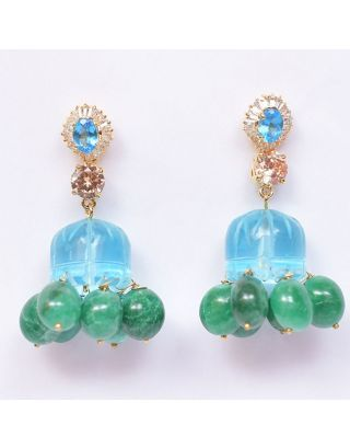 Blue and Green Jhumkas