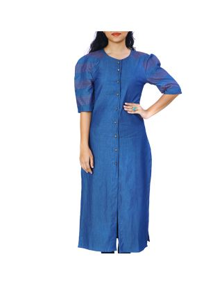 Long Denim Kurta