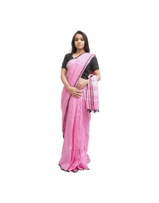 Plain Lavender Saree