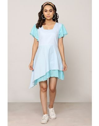 Blue Double Layered Dress