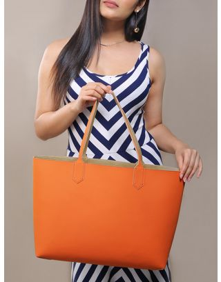 Orange Large Reversy Tote Bag