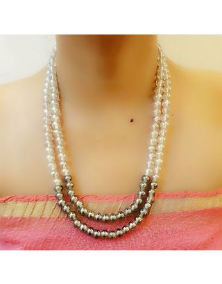 Two Layer Pearl Necklace