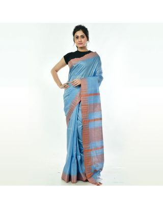 Sky Blue Silk Saree