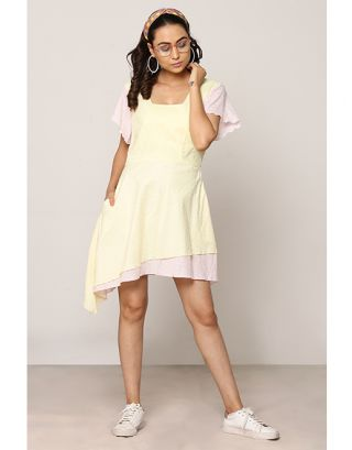 Lemon Yellow Double Layered Dress