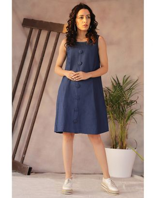 Denim Retro Tunic Dress