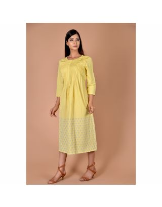 Yellow Pleated Frock