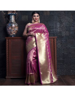 Magenta All Over Zari Work Saree