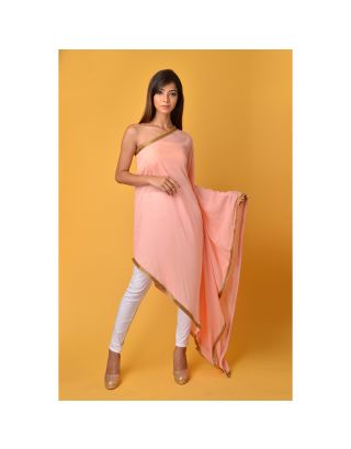 Blush Pink off shoulder Kaftan Top